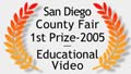 San Diego County Fair 1st Prize graphic